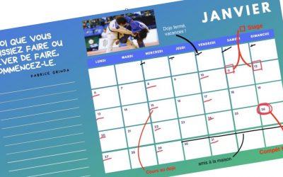 Le calendrier : un secret de champion !