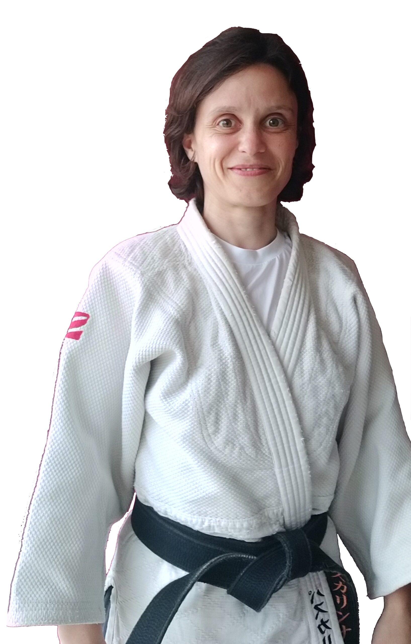 Portrait de la judoka Pascaline Magnes, ceinture noire 3ème dan