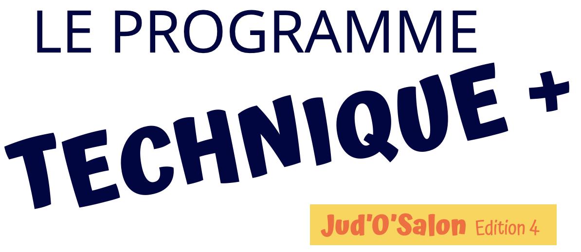 Logo de la 4ème édition de JudOSalon, appelée Le programme technique +
