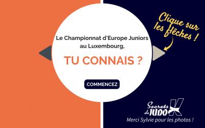 Championnats d'Europe Juniors Judo, Luxembourg 2021